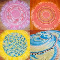 Плетёные коврики ручной работы
