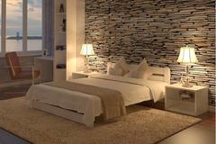 Кровать двуспальная из дерева -  белая. Массив, новая, бесплатная доставка, продажа и в кредит.