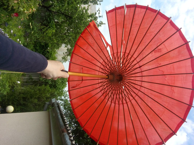 Японский стиль. Винтажный Бамбуковый Шелковый Зонтик. - 4